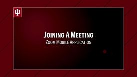 Thumbnail for entry Zoom: Joining a Meeting from the Mobile App