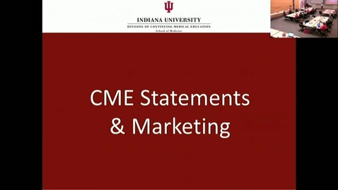 Thumbnail for entry CME RSS Coordinator Workshop - CME Statements & Marketing