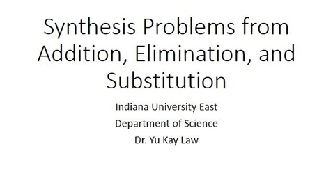 Thumbnail for entry Synthesis Problems Involving Addition, Elimination, and Substitution