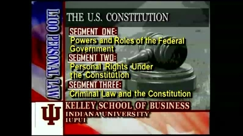 Thumbnail for entry L100 04-1 Powers & Roles of the Federal Government