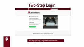 Thumbnail for entry Two-Step Login (Duo) using a Single Button Hardware Token