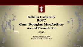 Thumbnail for entry 2016 Gen MacArthur Award Presentation