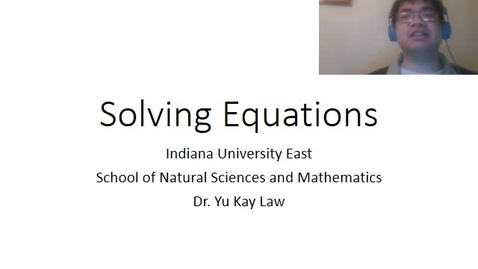 Thumbnail for entry Solving Equations