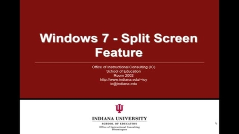 Thumbnail for entry Windows 7 - Split the Screen