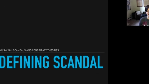Thumbnail for entry Defining Political Scandal