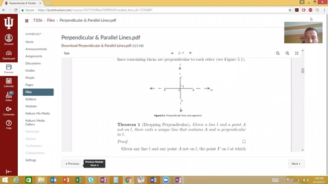 Thumbnail for entry Perpendicular & Parallel Lines- Proof of Theorem 1
