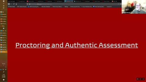 Thumbnail for entry Proctoring and Authentic Assessment