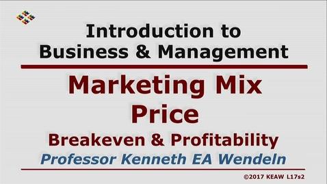Thumbnail for entry W200 17-2 Breakeven & Profitability
