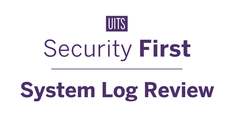 Thumbnail for entry System Log Review