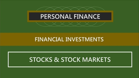 Thumbnail for entry F260_Lecture 12-Segment 2_Stocks & Stock Markets