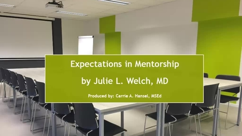 Thumbnail for entry Mentoring Expectations - Case 1 (Welch) - 02Sep16