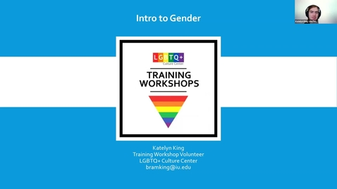 Thumbnail for entry Training Workshop: Intro to Gender, 2/17/2021