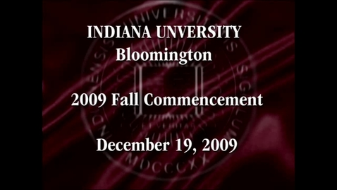 Thumbnail for entry 2009 Winter Commencement