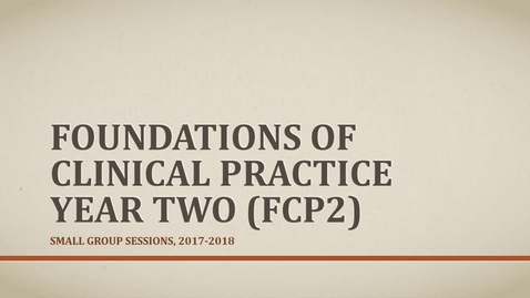 Thumbnail for entry FCP2 Preceptor Presentation