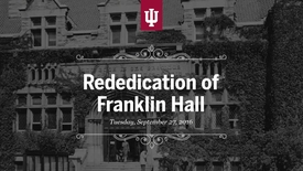 Thumbnail for entry Franklin Hall Rededication Ceremony