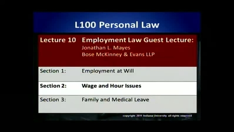 Thumbnail for entry L100 10-2 Wage and Hour Issues