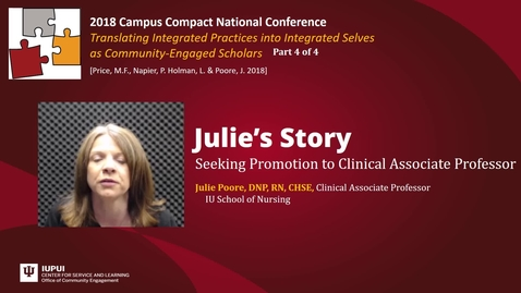 Thumbnail for entry JuliePoore - Seeking Promotion to Clinical Associate Professor