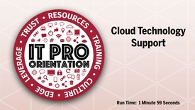 Thumbnail for entry Cloud Technology Support