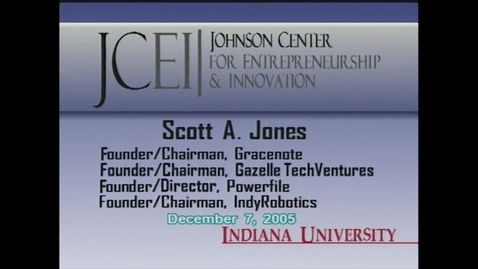 Thumbnail for entry Scott Jones: Distinguished Entrepreneur-in-Residence