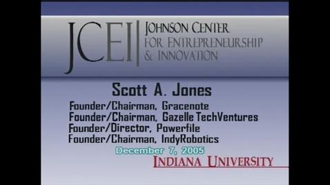 Thumbnail for entry Scott Jones: Distinguished Entrepreneur-in-Residence