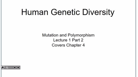 Thumbnail for entry FW Genetics Jan 10 2017, Lecture 1 part 2