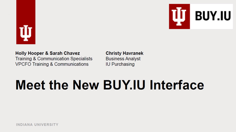 Thumbnail for entry Meet the New BUY.IU Interface