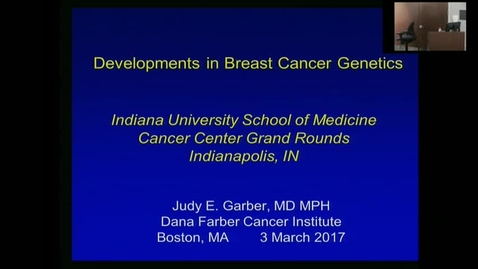 Thumbnail for entry IUSCC_Grand_Rounds, March 3, 2017, Judy Garber, MD, MPH