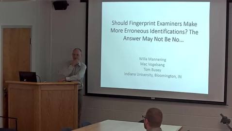 Thumbnail for entry Taboo Tradeoff Talk at Indiana University by Dr. Tom Busey