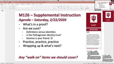 Thumbnail for entry SP20 M126 Supplemental Instruction Module 2 Session 6