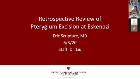 Thumbnail for entry Retrospective review of pterygium excision at Eskenazi