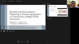 Thumbnail for entry Webinar: Broadening Participation Focus: Preparing a Diverse Generation of Community College STEM Educators - Clipped by Deb Cole