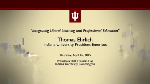 Thumbnail for entry IU President Emeritus Thomas Ehrlich