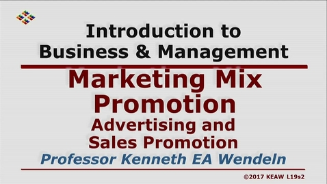 Thumbnail for entry X100 19-2 Advertising and Sales Promotion