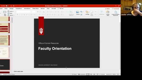 Thumbnail for entry Fall 2021 New Adjunct Faculty Orientation