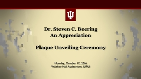 Thumbnail for entry Dr. Steven C. Beering an Appreciation