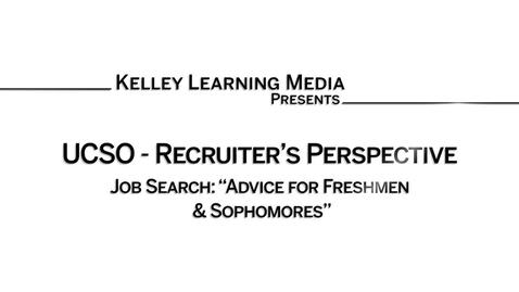 Thumbnail for entry Advice for Freshmen & Sophomores