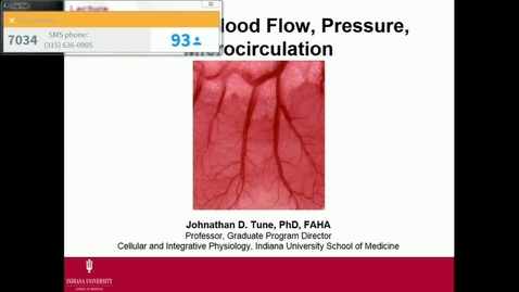 Thumbnail for entry IN FHD 1/25/2017: Cardiac Output, Cardiovascular Interactions, VSM and Endothelium Lecture