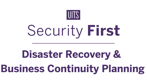 Thumbnail for entry Disaster Recovery and Business Continuity Planning