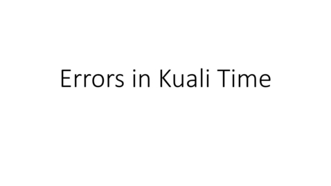 Thumbnail for entry Kuali Time - the expected hours not met error