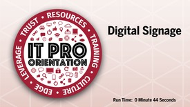 Thumbnail for entry Digital Signage