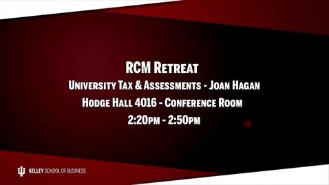 Thumbnail for entry 2017_02_20_RCM Retreat - 05 University Tax & Assessments (Upload 03/03/17)