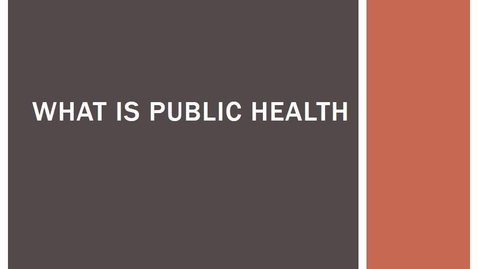 Thumbnail for entry NAYOUNG_05_11_What_is_Public_Health