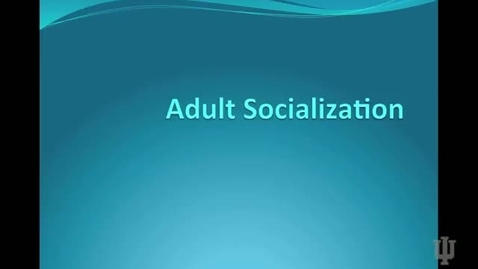 Thumbnail for entry Adult Socialization