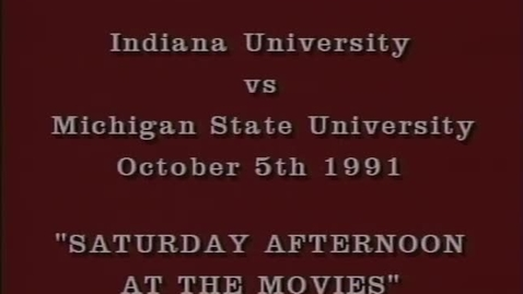 Thumbnail for entry 1991-10-05 vs Michigan State - Halftime