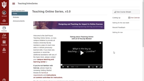 Thumbnail for entry Teaching Online Series - Introducing version 3.0
