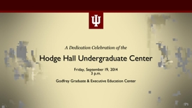 Thumbnail for entry Dedication of the Hodge Hall Undergraduate Center