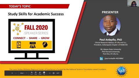 Thumbnail for entry Study Skills and Strategies for Academic Success