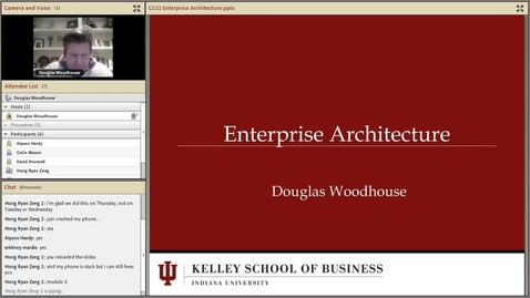 Thumbnail for entry dwoodhou MP4s_C522 Woodhouse_C522 Woodhouse W13 Session 8 Enterprise Architecture