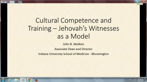Thumbnail for entry Transitions_8/16/2016: Ethics and Cultural Component Jehovah Witness