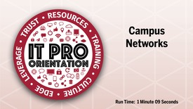 Thumbnail for entry Campus Networks